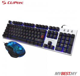 CLiPtec RGK700 ZAKINAT-KOM USB Illuminated Gaming Keyboard and Mouse Combo Set