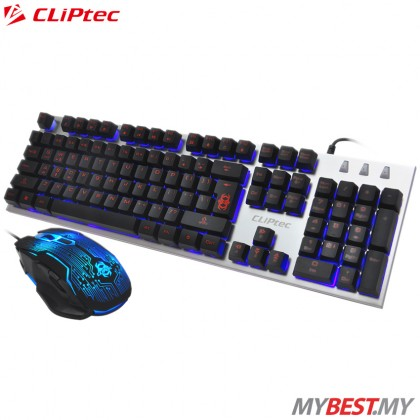 CLiPtec RGK700 ZAKINAT-KOM USB Illuminated Gaming Keyboard and Mouse Combo Set