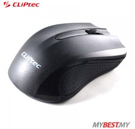 CLiPtec RZS846 TRAX 2.4GHz 1200 DPI Wireless Optical Mouse (Black)