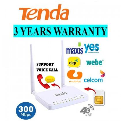 TENDA 4G680 4G LTE Wireless N300 WiFi Router Support Voice Call voLTE Webe Digi Umobile Direct SIM