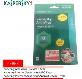 Kaspersky Anti-Virus 2018 3D1Y
