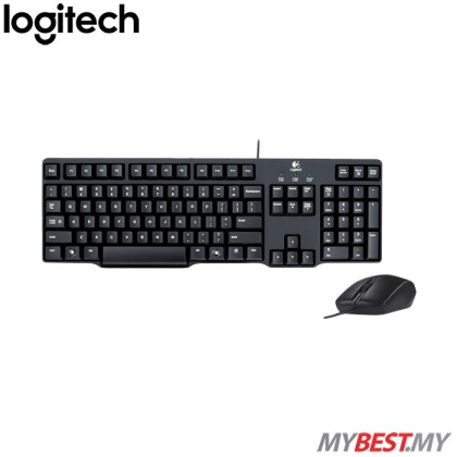 Logitech Classic Desktop MK100 Wired Keyboard & Mouse Combo