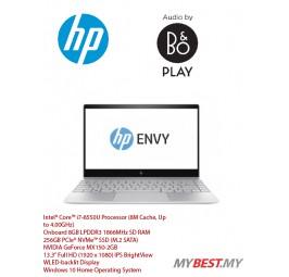 """HP Envy 13-AD143TX Laptop (i7-8550U 4.00GHz,8GB,256GB,NV MX150-2GB,13.3"""" FHD,No O/D,W10) - Silver"""