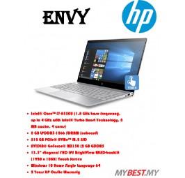 """HP ENVY 13-Ad144TX 13.3"""" FHD Touch Laptop Silver (I7-8550U, 8GB, 512GB, MX150 2GB, W10)"""