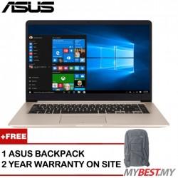 """Asus Vivobook A510U-FEJ140T 15.6"""" FHD Laptop Gold (I7-8550U, 4GB, 1TB, MX130 2GB, W10)"""