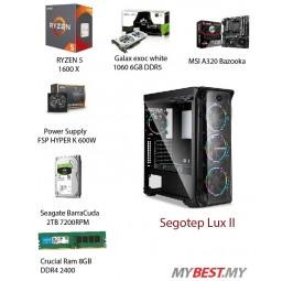 GAMING PC Desktop Custom (ryzen 5 1600x/ GTX 1060 6GB/ HDD2TB / DDR4 8GB/ 600W POWER