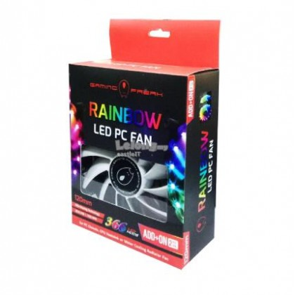 GamingFreak RAINBOW LED PC FAN - STARTER KIt