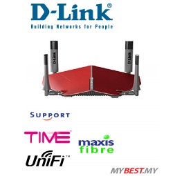 D-Link DIR-885L AC3150 MU-MIMO Ultra Wi-Fi Wireless Dual Band Router Unifi Time Maxis Fibre Internet