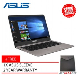 "ASUS ZenBook UX410U-QGV029T Laptop | i5-7200U | 4GB | 1TB | GT940MX | 14"" | W10- Gray"