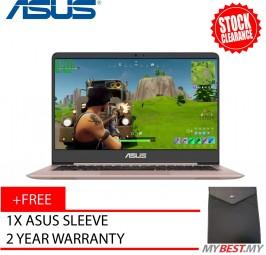 """ASUS ZenBook UX410U-QGV030T   Core i5   4GB   1TB   GT940MX   14"""" - Rose Gold"""