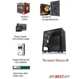 PC Desktop Custom (ryzen 3 2200G/ HDD1TB / DDR4 8GB/ 500W POWER)