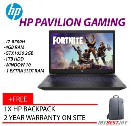 "HP Pavilion Gaming 15-Cx0153TX 15.6"" FHD IPS Laptop Black (I7-8750H, 4GB, 1TB, GTX1050 2GB, W10)"