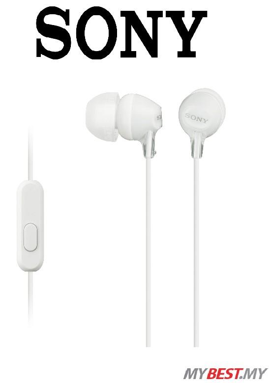 Sony MDR-EX15AP In-ear Headphones Black (1 Year Sony