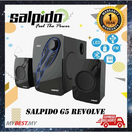 Salpido G5 Revolve 2.1 With Bt,Fm,Usb,Led Display,Rc Multimedia Speaker