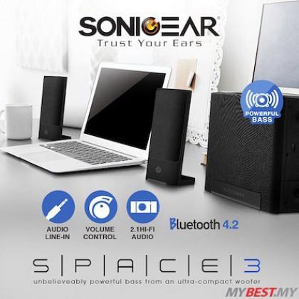 SonicGear Space 3 BTMI 2.1 Hi-Fi Bluetooth 4.2 Speaker