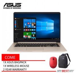 """Asus Vivobook A510U-NEJ353T 15.6"""" FHD Laptop Gold (i5-8250U, 4GB, 1TB, MX150 2GB, W10)"""