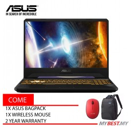 Asus TUF FX505G-EES241T 15.6 inch Laptop/ Notebook (i7-8750H, 8GB, 1TB, 128GB, NV GTX1050Ti, W10H)