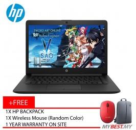 """HP 14-Ck0020TX 14"""" Laptop Black ( I3-7020U, 4GB, 1TB, Radeon 520 2GB, W10 )"""