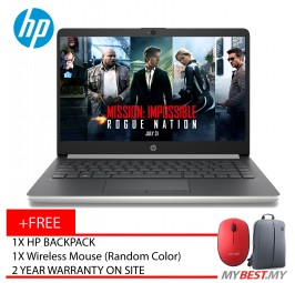 """HP 14s-Cf1025TX 14"""" FHD IPS Laptop Natural Silver ( I5-8265U, 4GB, 1TB, Radeon 530 2GB, W10 )"""