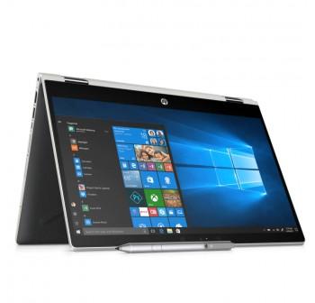 "HP Pavilion X360 14-Cd1015TX 14"" FHD Touch Laptop Silver ( I5-8265U, 4GB, 1TB + 8GB, MX130 2GB, W10)"