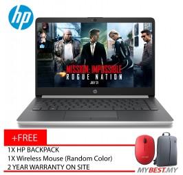 "HP 14s-Cf1026TX (SILVER LAPTOP) ( I7-8565U/4GB/1TB/14""FHD/AMD 530 2GB/W10 )"