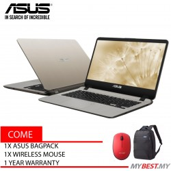 Asus Vivobook A407M-ABV101T 14 inch Laptop/ Notebook (N5000, 4GB, 256GB, Intel, W10H)