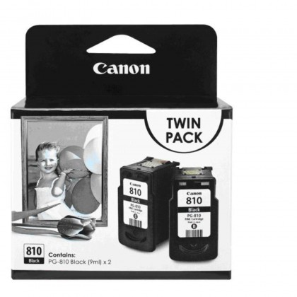 CANON INK CARTRIDGE PG-810 TWIN PACK (TWO CARTRIDGES INSIDE)