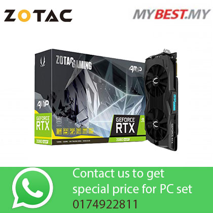ZOTAC Gaming NVIDIA GeForce RTX 2080 AMP Edition 8GB GDDR6 256-Bit Graphic Card RTX2080
