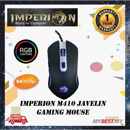 Imperion Javelin M410 Wired RGB 6 Button Gaming Mouse