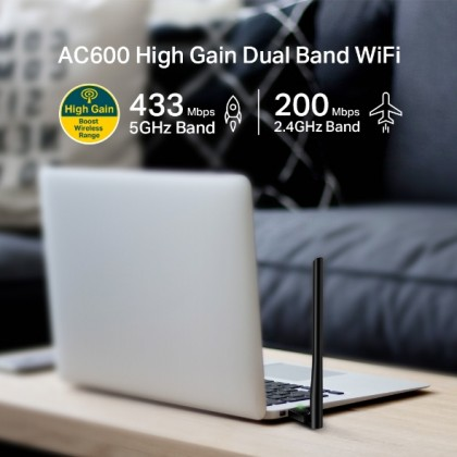 TP-LINK T2U PLUS High Gain 5dBi Antenna AC600 Dual Band Wireless WiFi USB Adapter