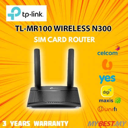 TP-Link TL-MR100 Wireless N300 4G LTE Mobile Direct SIM Modem Router