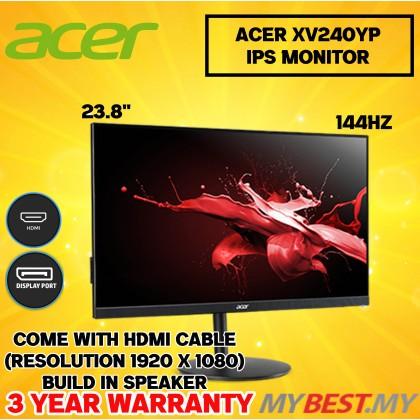 "Acer Nitro XV240YP 23.8"" FHD IPS Gaming Monitor ( 144 Hz, HDMI ,DP, 3 Yrs Warranty )"