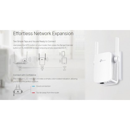 TP-Link TL-WA855RE Repeater WiFi Wireless Range Extender Booster with AP Mode