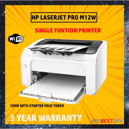 HP Mono LaserJet M12W  WIFI Printer (Single function print only)
