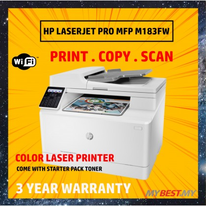 HP COLOR LASERJET PRO MFP M183FW LASER PRINTER ( PRINT ,SCAN ,COPY ,WIRELESS ,FAX )