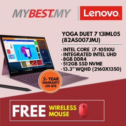 "LENOVO YOGA DUET 7 13IML05 82AS007JMJ LAPTOP (I7-10510U,8GB,256GB SSD,13.3"" FHD,UHD GRAPHICS,WIN10)"