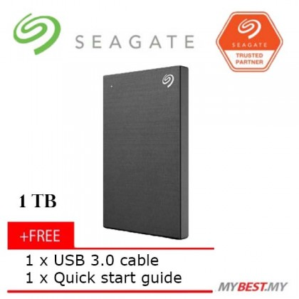 Seagate 1TB Backup Plus Slim External Hard Drive (BLACK)