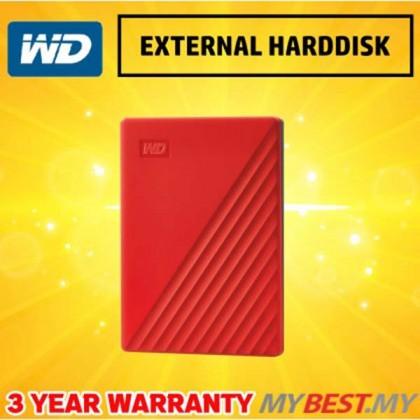 "WESTERN DIGITAL MY PASSPORT 2.5"" 4TB USB3.0-RED (NEW)"
