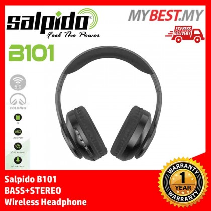 Salpido B101 BASS+STEREO Wireless Headphone