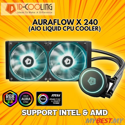 ID-COOLING AURAFLOW X 240 RGB AIO LIQUID COOLER 240MM