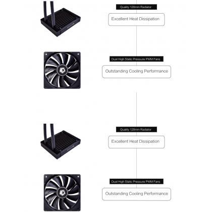 ID-COOLING FROSTFLOW X 120 RGB AIO LIQUID COOLER 120MM