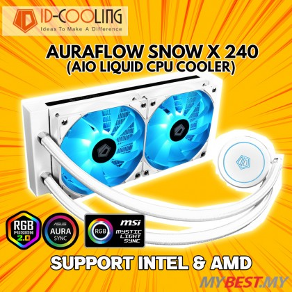 ID COOLING AURAFLOW X 240 RGB SNOW AIO COOLING