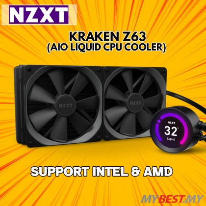 NZXT Kraken Z63 Series 280mm AIO LCD Liquid Cooler with RGB