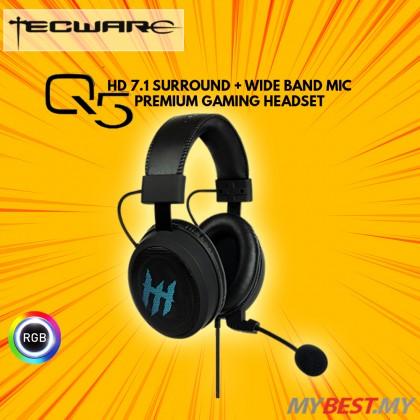 TECWARE Q5 PREMIUM GAMING 7.1 RGB GAMING HEADSET