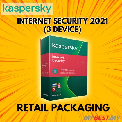 KASPERSKY INTERNET SECURITY 2021 [1 YEAR 3 USER]