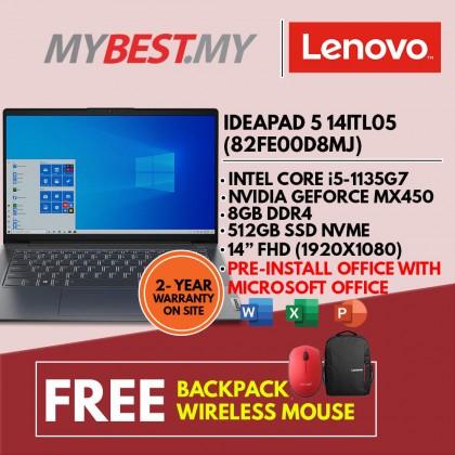 Lenovo IdeaPad 5 14ITL05 82FE00D8MJ 14'' FHD Laptop Graphite Grey ( I5-1135G7, 8GB, 512GB SSD, MX450 2GB, W10, HS )