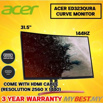 Acer ED323QURA 32IN Curve 144Hz 2K MonitoR