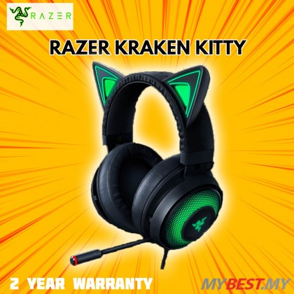 RAZER KRAKEN KITTY CHROMA - BLACK WIRED HEADSET (RZ04-02980100-R3M1)