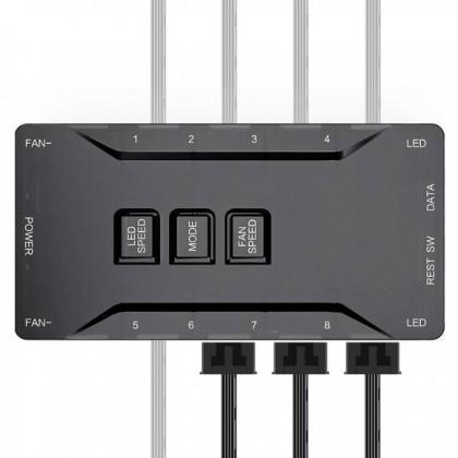 AIGO DarkFlash C7 3 in 1 Addressable RGB Fan with Controller