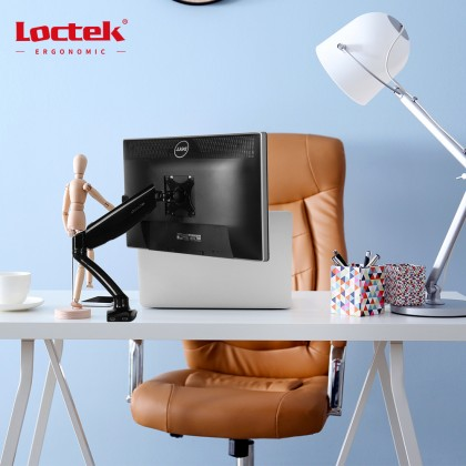 LOCTEK DLB502 Full Motion Gas-Spring-Adjustable Desk Mount LCD Monitor Arms